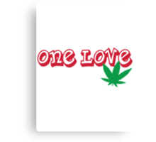 One Love Canvas Print