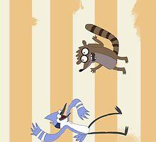 Regular Show - Mordecai & Rigby by Raccoon-god