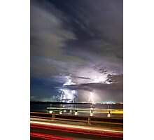 Elizabeth Bridge Storm Photographic Print