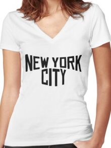New York - Big Apple Women's Fitted V-Neck T-Shirt