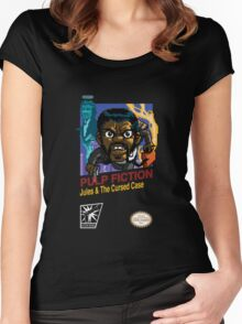 Pulp Fiction: 8 Bit Style Women's Fitted Scoop T-Shirt