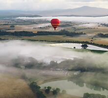 Hot Air Balloon At Sunrise, Yarra Valley, Australia by massrapid