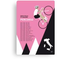 MY GIRO D ITALIA MINIMAL POSTER 2014-PERCOSO Canvas Print