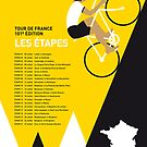 MY TOUR DE FRANCE MINIMAL POSTER 2014-ETAPES by Chungkong