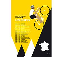 MY TOUR DE FRANCE MINIMAL POSTER 2014-ETAPES Photographic Print