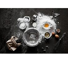 A Cupcake Deconstructed - A Baker's Delight! Photographic Print