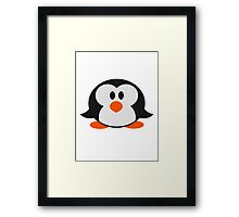 Sweet cute little Penguin baby child Framed Print