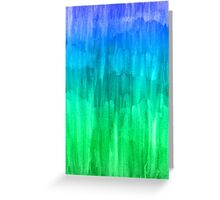 Turquoise, Lime & Indigo Watercolor Abstract Greeting Card