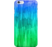 Turquoise, Lime & Indigo Watercolor Abstract iPhone Case/Skin