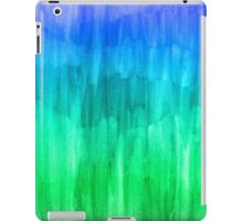 Turquoise, Lime & Indigo Watercolor Abstract iPad Case/Skin