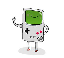 Cute Gameboy T-shirt Photographic Print