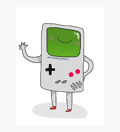 Cute Gameboy T-shirt Photographic Print