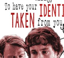 Will and Hannibal - Identity (Red) Sticker