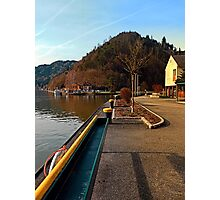 River Danube valley, at the harbour | waterscape photography Photographic Print