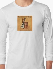 Guitar and Chair Album Cover by Peter Miller Long Sleeve T-Shirt