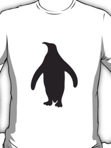 Penguin silhouette shadow outline T-Shirt
