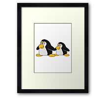 Penguin Mama Papa Child Family Framed Print