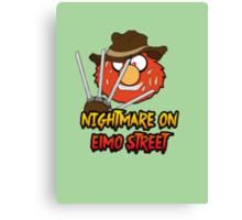 Nightmare on elmo street. Horror. Canvas Print
