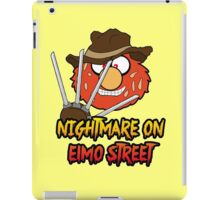 Nightmare on elmo street. Horror. iPad Case/Skin