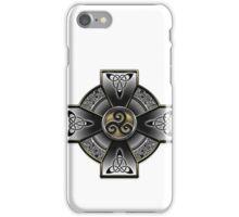 Black Celtic Cross iPhone Case/Skin