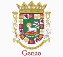 Genao Shield of Puerto Rico One Piece - Short Sleeve
