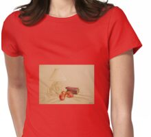 Still life with lamp and apples Womens Fitted T-Shirt