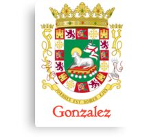 Gonzalez Shield of Puerto Rico Canvas Print