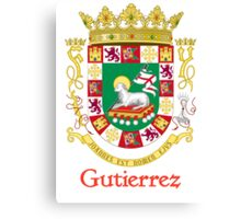 Gutierrez Shield of Puerto Rico Canvas Print