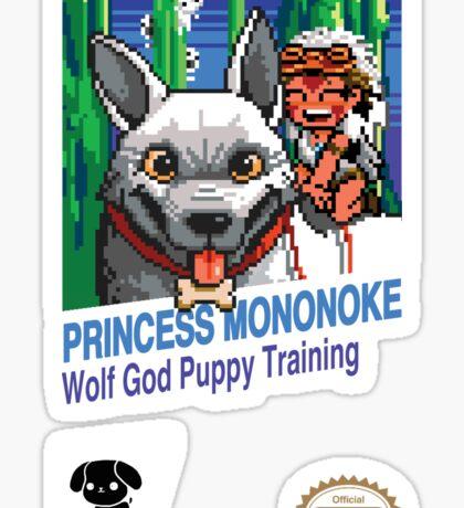 Princess Mononoke 8 Bit Style Sticker