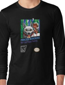 Princess Mononoke 8 Bit Style Long Sleeve T-Shirt