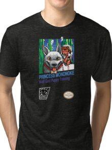 Princess Mononoke 8 Bit Style Tri-blend T-Shirt