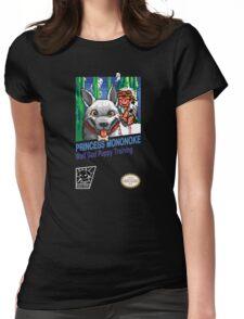 Princess Mononoke 8 Bit Style Womens Fitted T-Shirt