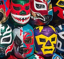 Mexican Wrestler Masks by Mindful-Designs