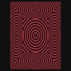 Red Round Circular Vortex T Shirt Design By Chris McCabe by Christopher McCabe