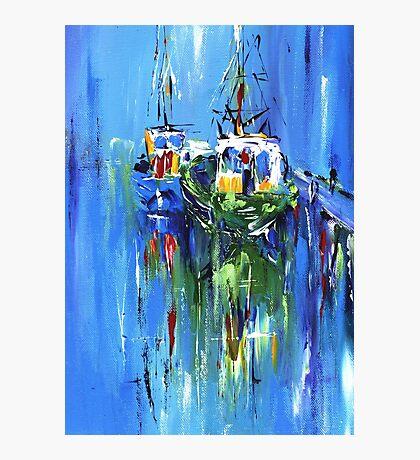 Semi abstract boats Photographic Print