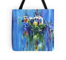 Semi abstract boats Tote Bag