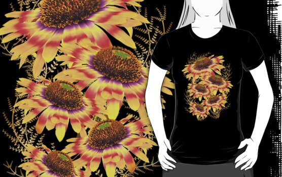 Flowers of the Sun God .. tee shirt by LoneAngel