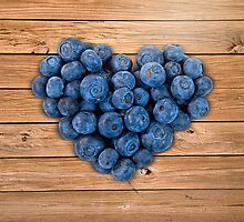 Blueberry Heart by Maria Dryfhout