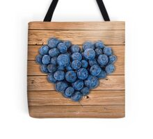 Blueberry Heart Tote Bag