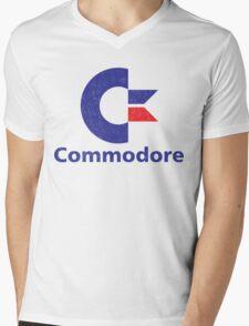 Commodore Logo Mens V-Neck T-Shirt
