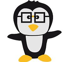 Funny cute nerd geek swag Penguin child by Style-O-Mat