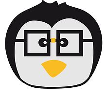 Funny cute nerd geek swag Penguin face by Style-O-Mat
