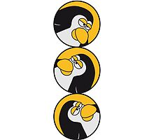 Funny such comic Penguin circle logo by Style-O-Mat