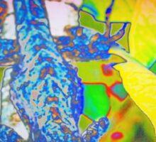 Blue lizard Sticker
