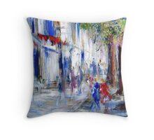 Semi abstract street scene  Throw Pillow
