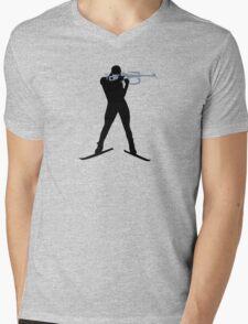 Biathlon sports Mens V-Neck T-Shirt