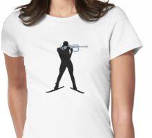 Biathlon sports Womens Fitted T-Shirt