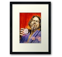 The Dude Abides Framed Print