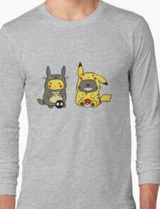 Totoro & Pickachu  Long Sleeve T-Shirt