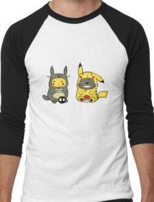 Totoro & Pickachu  Men's Baseball ¾ T-Shirt